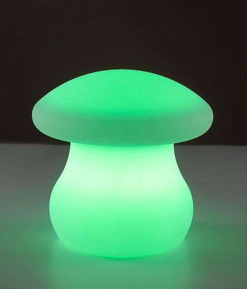 Светильник зеленый гриб