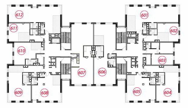 Планировка 6 этаж