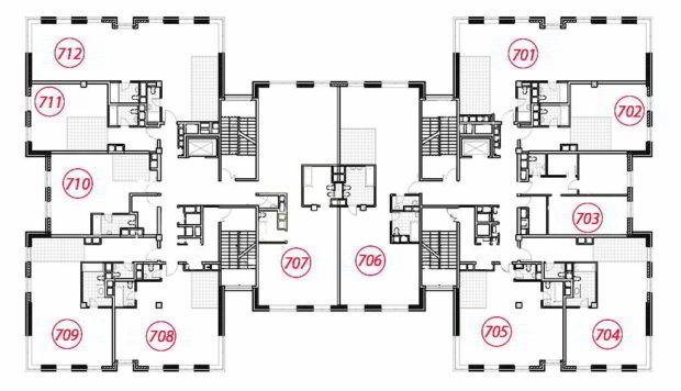 Планировка 7 этаж